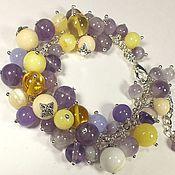 Украшения handmade. Livemaster - original item Whisper Of Morning Lilacs. Bracelet.. Handmade.