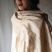 Аксессуары handmade. Livemaster - original item Beige scarf-gossamer. Handmade.