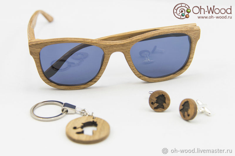 Очки ручной работы. Ярмарка Мастеров - ручная работа. Купить Солнцезащитные очки из дерева 'Wayfarer' Орех. Handmade. Бежевый