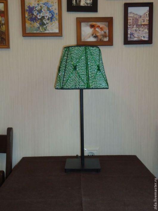 """Освещение ручной работы. Ярмарка Мастеров - ручная работа. Купить Лампа из бисера """"Изумрудный восторг"""". Handmade. Зеленый, бисер"""