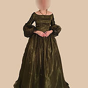 Одежда ручной работы. Ярмарка Мастеров - ручная работа Викторианское платье 1862 год. Handmade.
