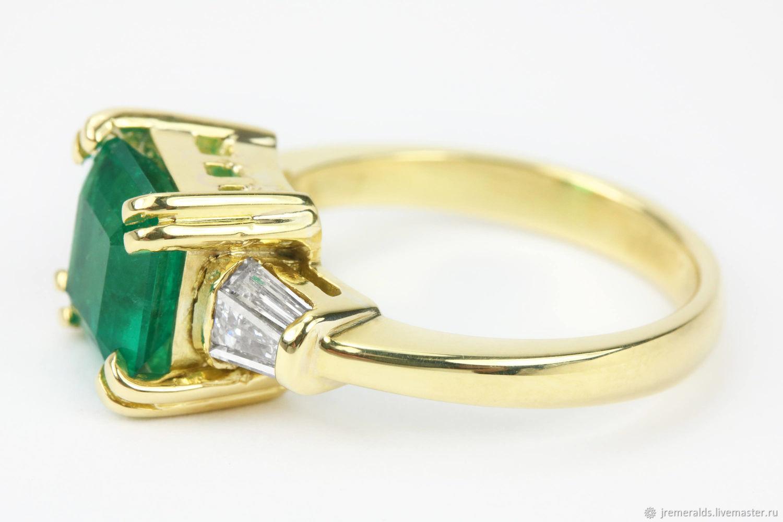 МаргаРита ( Кольца ручной работы. Изумруды от JR. Золотое кольцо с  бриллиантами 18К. 65419c668dd