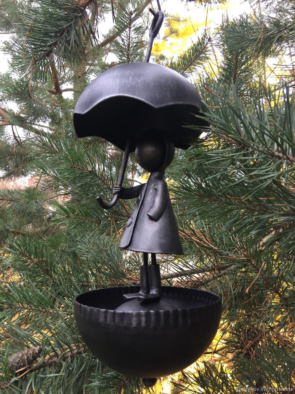 Feeder 'Girl with umbrella', Bird feeders, Kolchugino,  Фото №1