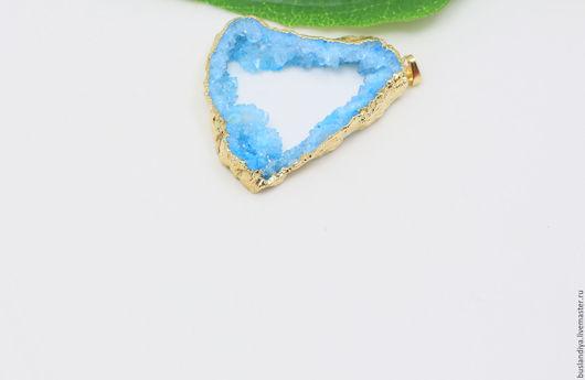 Для украшений ручной работы. Ярмарка Мастеров - ручная работа. Купить Кулон голубой крупный №1. Handmade. Друза