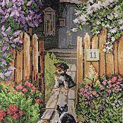 """Картины и панно ручной работы. Ярмарка Мастеров - ручная работа """"Калитка"""" вышитая картина. Handmade."""