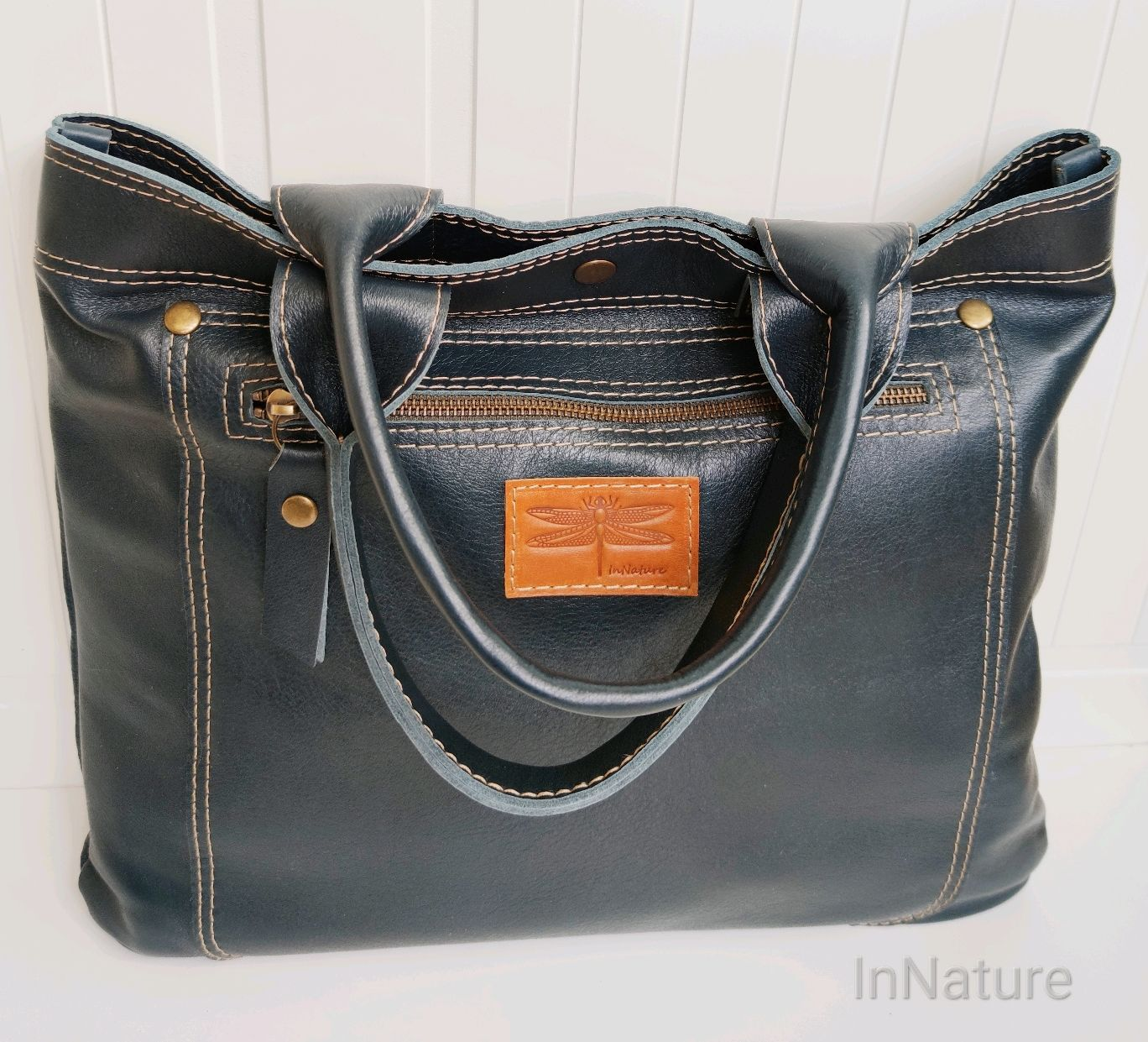 Bag ,genuine leather, 'Gala', with two handles, Classic Bag, Riga,  Фото №1