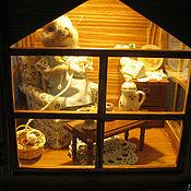 """Кукольные домики ручной работы. Ярмарка Мастеров - ручная работа Фонарь-светильник """"Мышка-рукодельница"""". Handmade."""