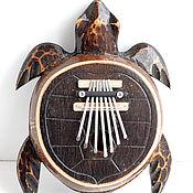 """Музыкальные инструменты ручной работы. Ярмарка Мастеров - ручная работа Калимба """"Черепаха"""" 26 см настроенная. Handmade."""