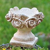 Для дома и интерьера handmade. Livemaster - original item concrete candle holder with glass vase vintage rose. Handmade.