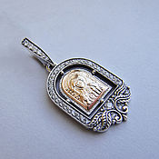 Сувениры и подарки handmade. Livemaster - original item Personalized women`s icon from silver and gold. Handmade.