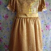 Работы для детей, ручной работы. Ярмарка Мастеров - ручная работа Нарядное платье для девочки. Размер 116. Handmade.