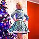 """Платья ручной работы. Платье из американского хлопка """"Очарование"""". Sherberry. Ярмарка Мастеров. Платье нарядное, Платье красивое, хлопок американский"""