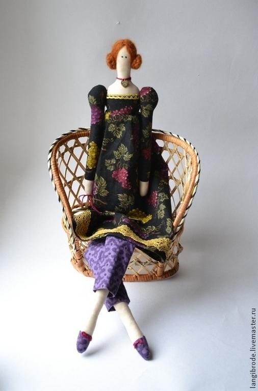 Куклы Тильды ручной работы. Ярмарка Мастеров - ручная работа. Купить Винтажный ангел Виноградинка. Handmade. Кукла, интерьерная кукла