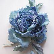 Цветы и флористика ручной работы. Ярмарка Мастеров - ручная работа Шелковая роза бирюзово-голубая Электра. Handmade.