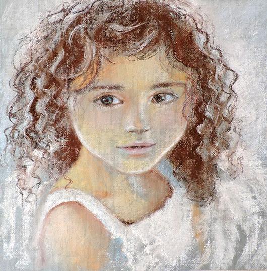 Люди, ручной работы. Ярмарка Мастеров - ручная работа. Купить Жемчужный ангел. Handmade. Девочка, пастель, портрет девочки, ребенок