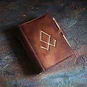 """Блокноты ручной работы. Ярмарка Мастеров - ручная работа Кожаный блокнот """"Одал"""". Handmade."""
