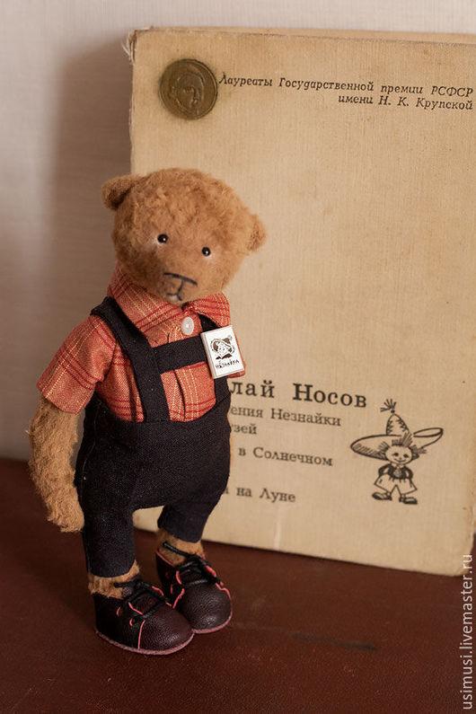 Мишки Тедди ручной работы. Ярмарка Мастеров - ручная работа. Купить Сережка. Handmade. Коричневый, незнайка, штанишки с лямками