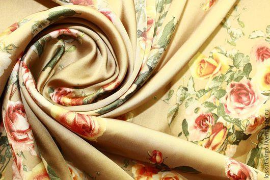 Шитье ручной работы. Ярмарка Мастеров - ручная работа. Купить Искусственный шелк с печатью, фактура атлас, 950руб-м. Handmade.
