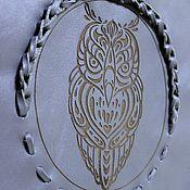 """Сумки и аксессуары ручной работы. Ярмарка Мастеров - ручная работа Кожаная сумка """"Сова"""" с бахромой. Handmade."""