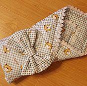 Работы для детей, ручной работы. Ярмарка Мастеров - ручная работа Пледик-конверт на выписку и подушка. Handmade.