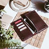 Сумки и аксессуары handmade. Livemaster - original item Leather wallet with magnets - Montpellier purse. Handmade.