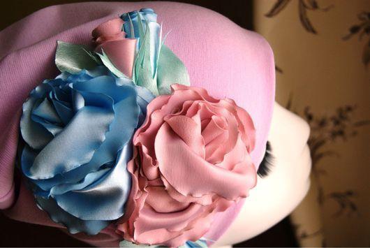 """Шапки ручной работы. Ярмарка Мастеров - ручная работа. Купить Шапочка с цветами """"Marshmallow"""". Handmade. Шапочка с цветами, красивая шапочка"""