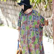 Одежда handmade. Livemaster - original item Print ultra-loose dress / plus size dresses. Handmade.