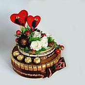 """Свадебный салон ручной работы. Ярмарка Мастеров - ручная работа Торт из конфет """"Любимому человеку"""". Handmade."""