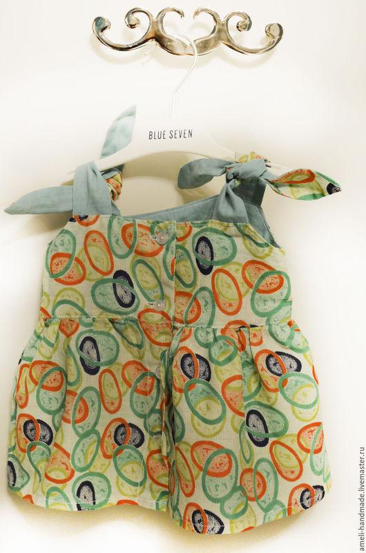 Одежда для девочек, ручной работы. Ярмарка Мастеров - ручная работа. Купить Летний сарафан для малышки. Handmade. Оливковый, сарафан для девочки