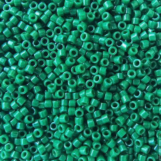 Для украшений ручной работы. Ярмарка Мастеров - ручная работа. Купить 10 ГР MIYUKI DELICA 11/0 DB656 opaque green. Handmade.