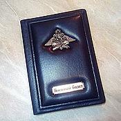 """Канцелярские товары handmade. Livemaster - original item Обложка на военный билет из натуральной кожи """"Ваше благородие"""". Handmade."""