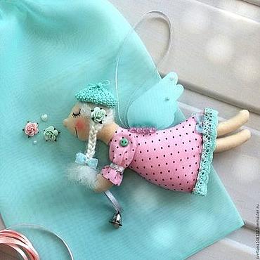 Куклы и игрушки ручной работы. Ярмарка Мастеров - ручная работа Ангел в мятно-розовом. Handmade.