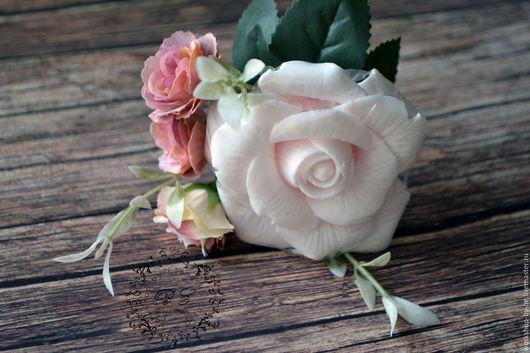 Мыло ручной работы. Ярмарка Мастеров - ручная работа. Купить Мыло Роза Английская. Handmade. Кремовый, сиреневый, мыло, бонбоньерка
