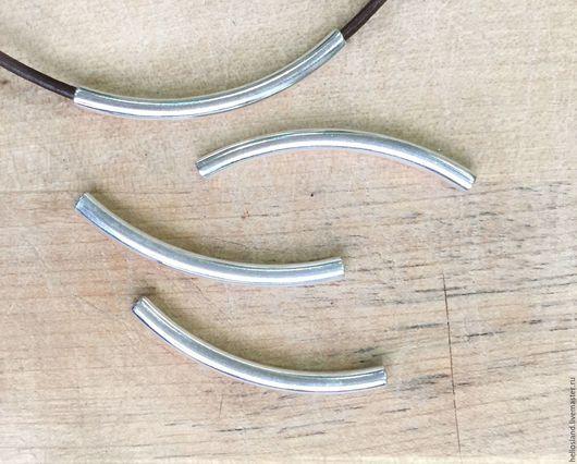Для украшений ручной работы. Ярмарка Мастеров - ручная работа. Купить Бусины трубочки для круглых шнуров 2 мм. Handmade.