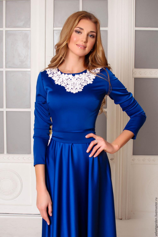 Бело-синие платья картинки