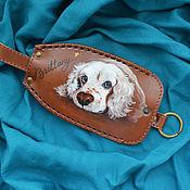 """Сумки и аксессуары handmade. Livemaster - original item Leather key case """"BRITTANI"""". Handmade."""