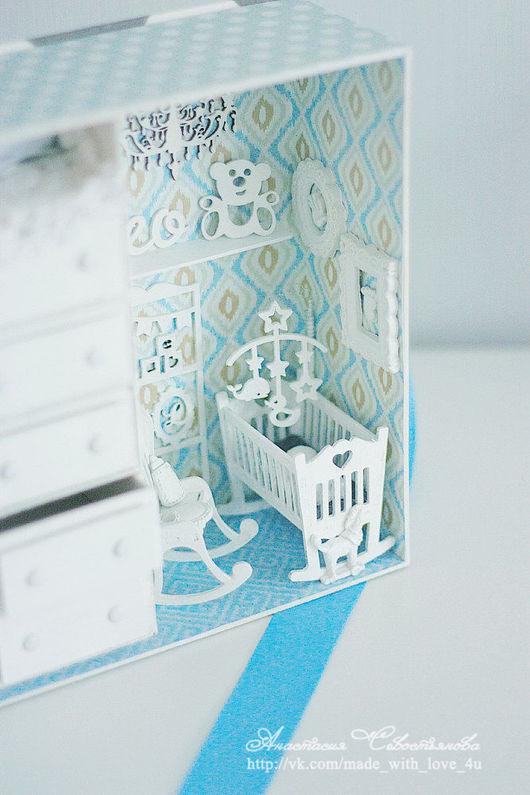 Миниатюрные модели ручной работы. Ярмарка Мастеров - ручная работа. Купить Мамины сокровища. Handmade. Серый, детская комната, чипборд
