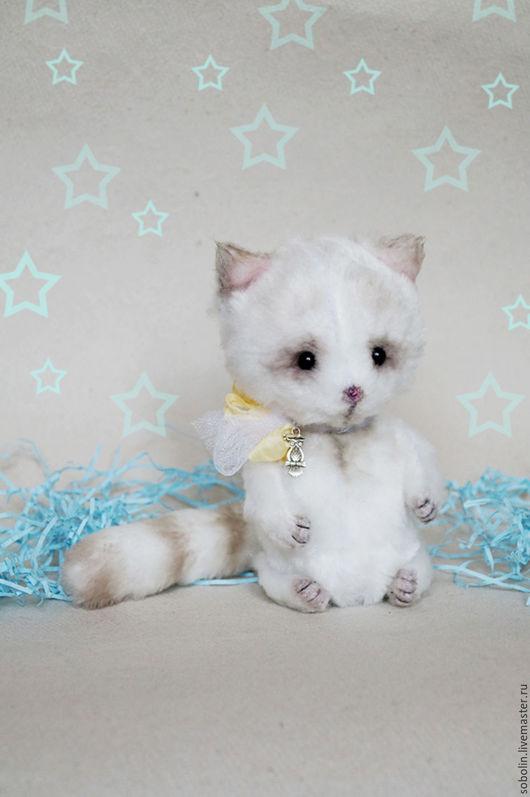 """Игрушки животные, ручной работы. Ярмарка Мастеров - ручная работа. Купить """"Cute friends""""  milky cat - Молоко. Handmade. Комбинированный"""