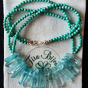 Украшения handmade. Livemaster - original item Turquoise necklace with crystals. Handmade.