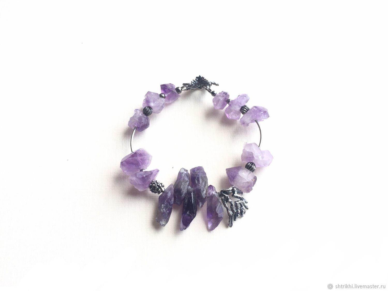 Bracelet Lightness of being. Amethyst, amethyst quartz,designer accessories, Bead bracelet, Moscow,  Фото №1