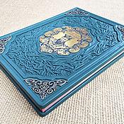 Подарки к праздникам handmade. Livemaster - original item The wisdom of Confucius in leather. Handmade.