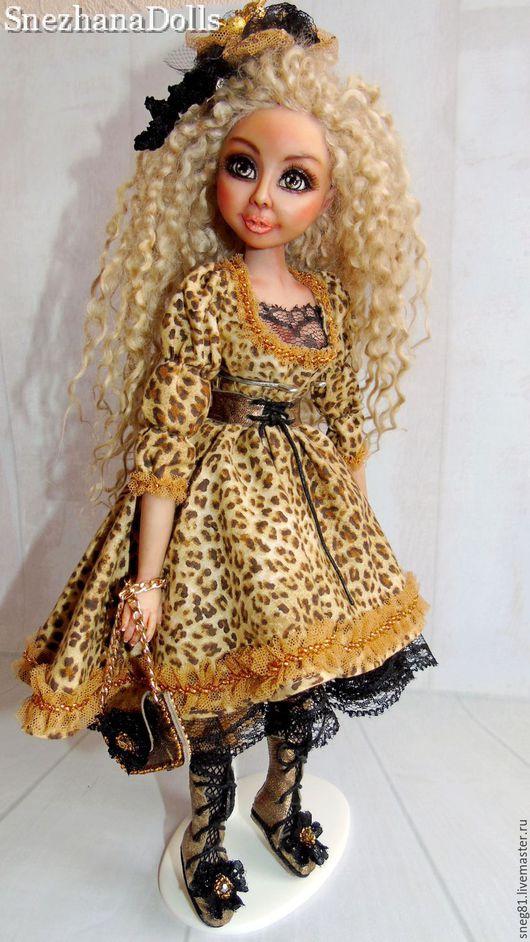 Коллекционные куклы ручной работы. Ярмарка Мастеров - ручная работа. Купить AMALIYA. Handmade. Коричневый, коллекционная кукла, хлопок