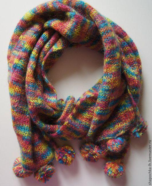 Разноцветный шерстяной шарф