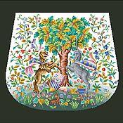 Схемы для вышивки ручной работы. Ярмарка Мастеров - ручная работа Схема для вышивки: Единорог и Лев (схема для вышивки сумки). Handmade.