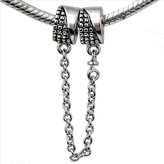Для украшений ручной работы. Ярмарка Мастеров - ручная работа. Купить Шарм соединительная цепочка для браслета серебро 925 пробы. Handmade.
