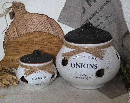 Кухня ручной работы. Ярмарка Мастеров - ручная работа. Купить Набор банок Parisienne. Handmade. Белый, лук, хранение лука