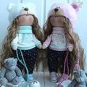 Куклы и игрушки ручной работы. Ярмарка Мастеров - ручная работа Текстильные куколки двойняшки.. Handmade.