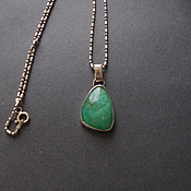Украшения handmade. Livemaster - original item Silver pendant WIND OF CHANGE (silver 950, green opal). Handmade.