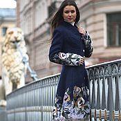 Одежда ручной работы. Ярмарка Мастеров - ручная работа Пальто синее Осенние облака.. Handmade.