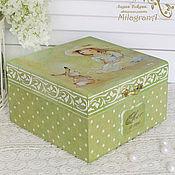 Для дома и интерьера handmade. Livemaster - original item Children`s jewelry box Children`s jewelry box decoupage jewelry Box for girls. Handmade.